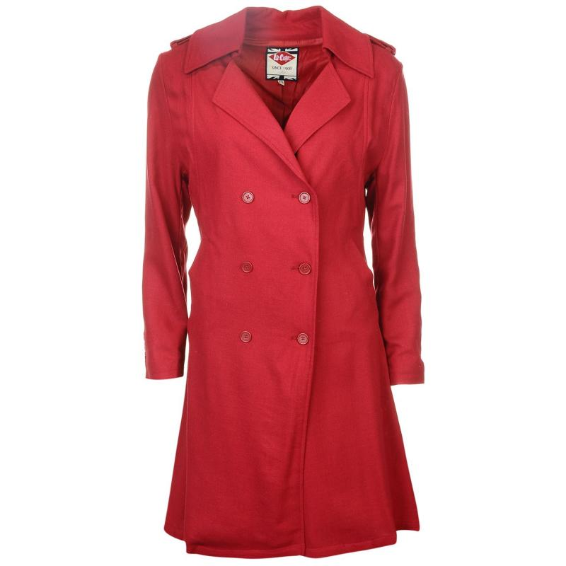 Lee Cooper Trench Coat Ladies Red