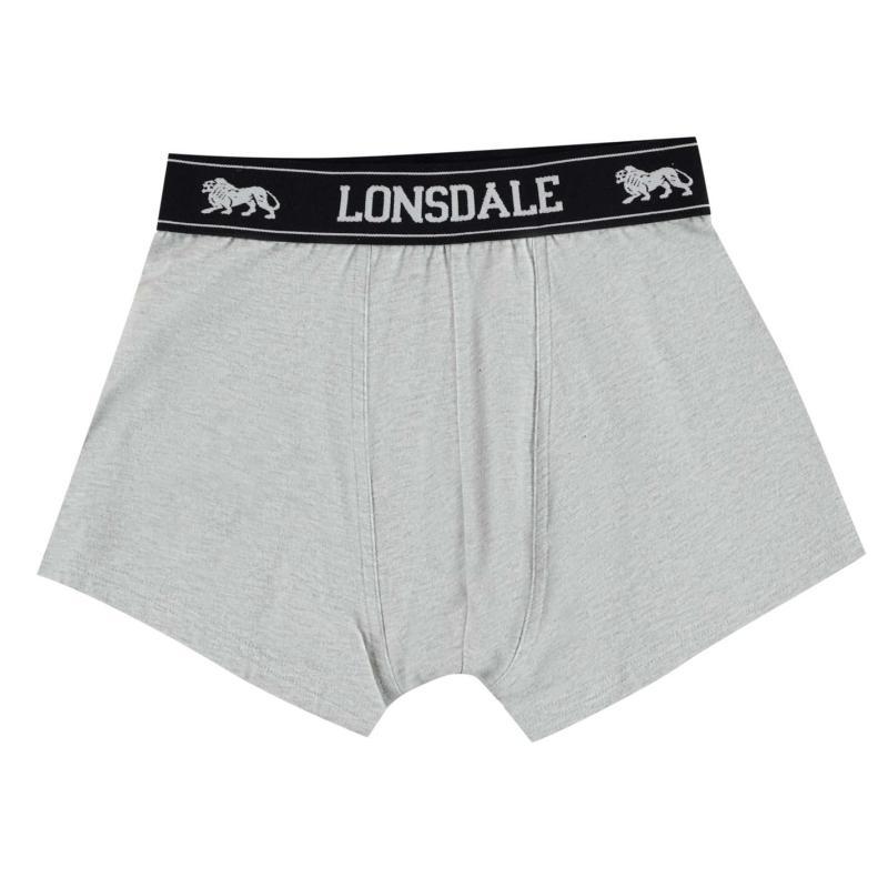 Spodní prádlo Lonsdale 2 Pack Trunk Junior Boys Grey