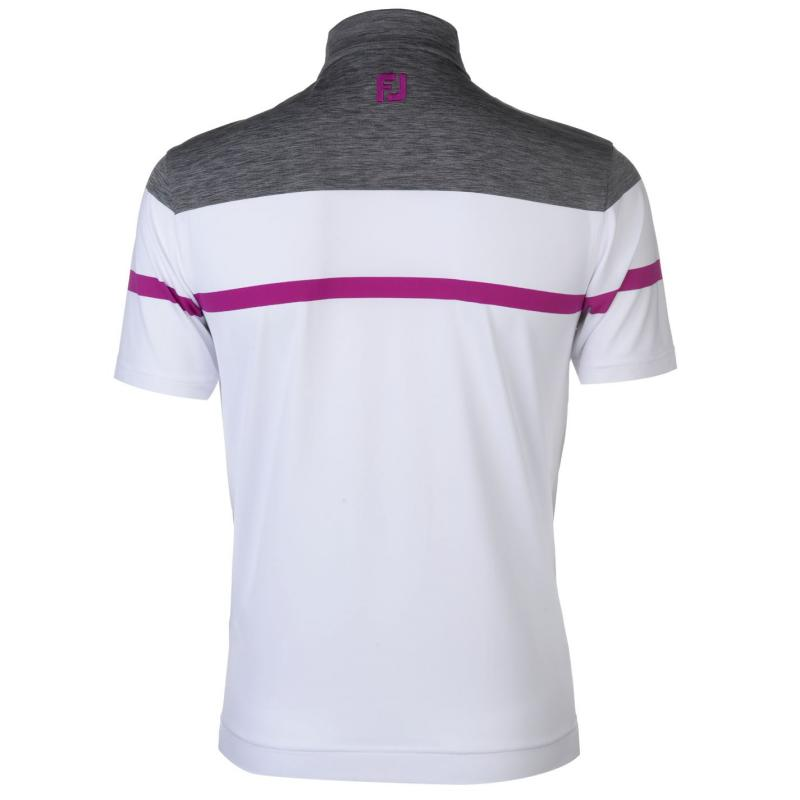 Footjoy Stretch Polo Shirt White/Charcoal
