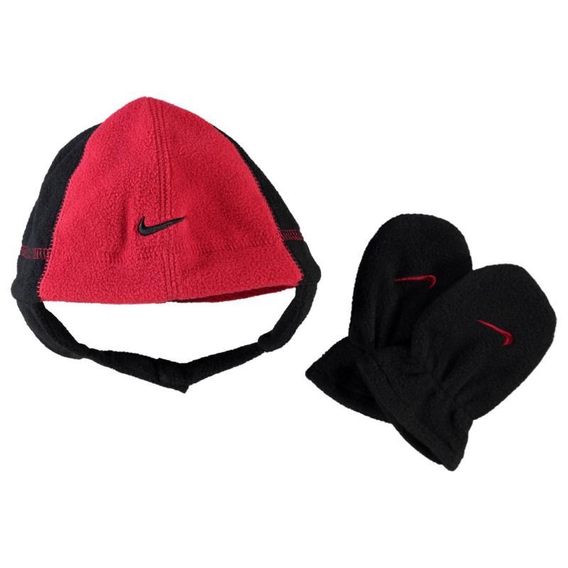 Nike Polar Fleece Hat Set Infants Varsity Red