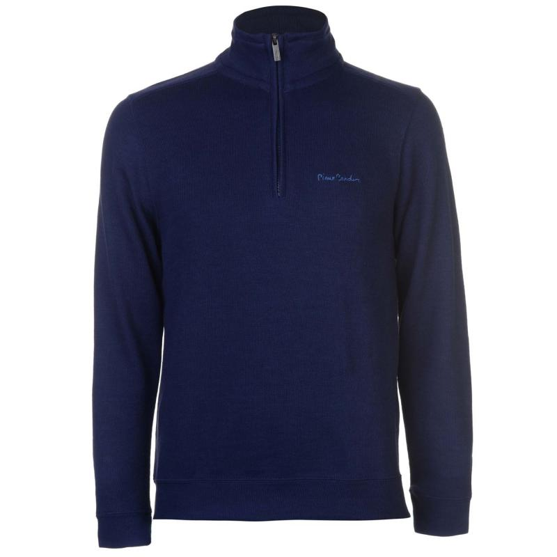 Mikina Pierre Cardin Quarter Zip FBR Jumper Mens French Navy