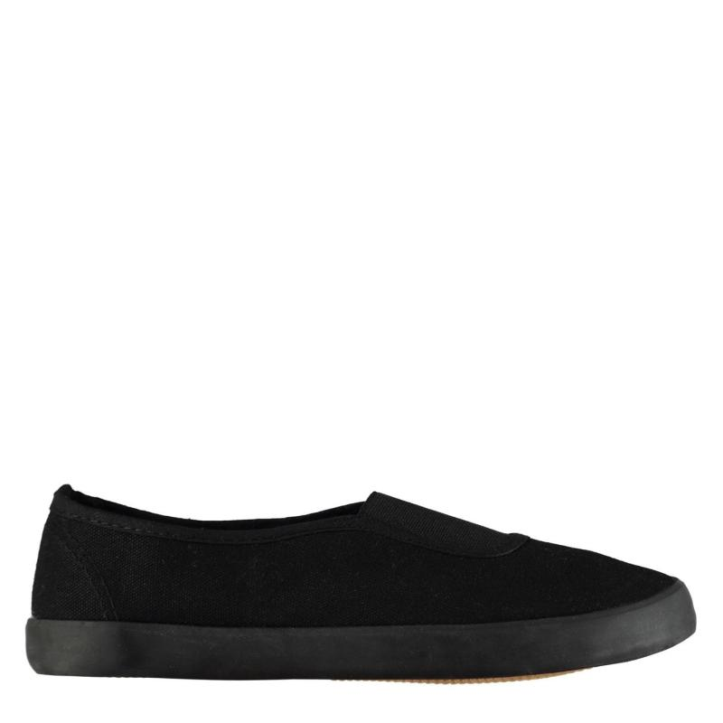 Boty Slazenger BTS Slip On Junior Pumps Black