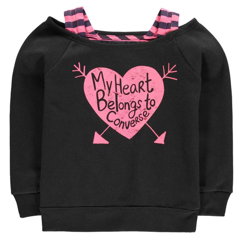 Converse Sweat Shirt Child Girls Black