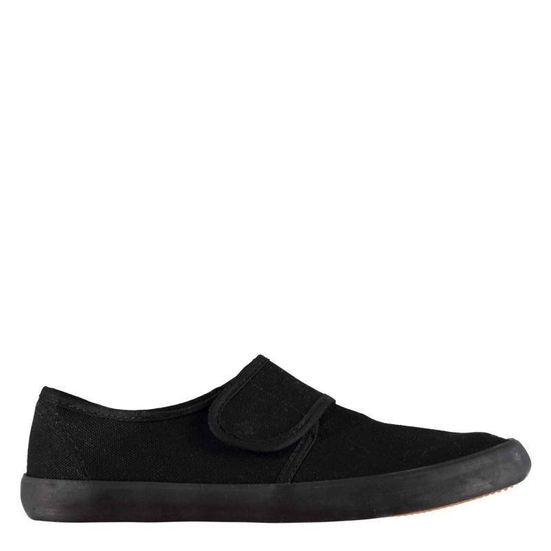 Boty Slazenger BTS Junior Canvas Shoes Black