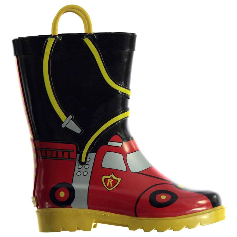 Muck Boot Chief Fire Boys Wellies Blck/Red/Yellow