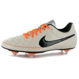 Pánské kopačky Nike Tiempo Rio - bílo/oranžové šněrovací