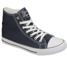 Chilli Pepper Womens Archway Hi Top Pumps Navy