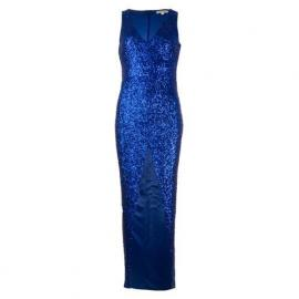 Šaty Glamorous Womens Sequin Dress Blue