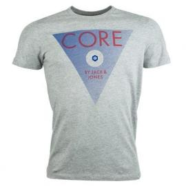 Tričko Jack Jones Mens Eight Triangle Print T-Shirt Grey Marl