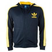 Mikina Adidas Originals Mens Flock Zip Hoody Black yellow