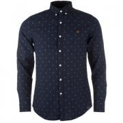 Košile Farah Mens The Culham Slim Fit Shirt Navy