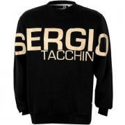 Mikina Sergio Tacchini Mens Marzano Logo Crew Sweatshirt Black