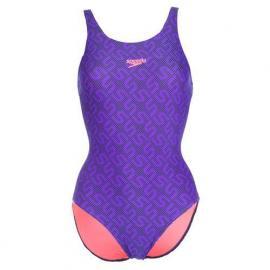 Plavky Speedo Womens Monogram Muscleback Swimsuit Navy