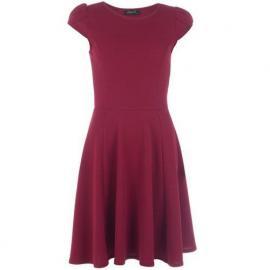 Šaty Clubl Womens Crepe Cap Sleeve Skater Dress Berry