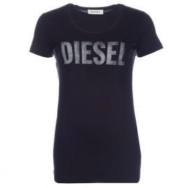 Dámské triko Diesel Black Velikost - 6 (XXS)