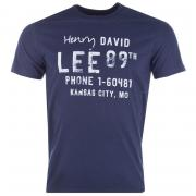 Tričko Lee Mens Graphic Print T-Shirt Navy