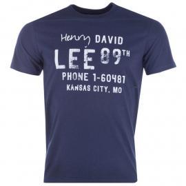Tričko Lee Mens Graphic Print T-Shirt Navy