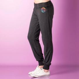 Sportovní kalhoty Converse Womens Burn Out Jog Pants Charcoal