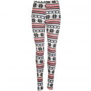 Legíny Chickster Womens Snowflake Leggings Cream