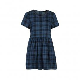 Šaty Rock and Rags Check Smock Skater Dress Blue