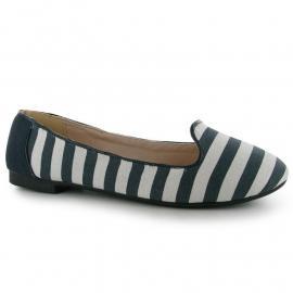Golddigga Stripe Slip On Ladies Navy/White