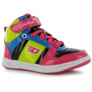 Golddigga Kick Hi Top Trainers Black/Pink/Yell
