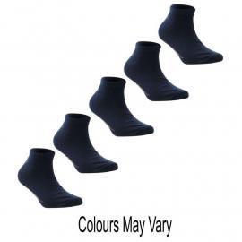 Ponožky Slazenger 5 Pack Trainer Socks Dark Asst