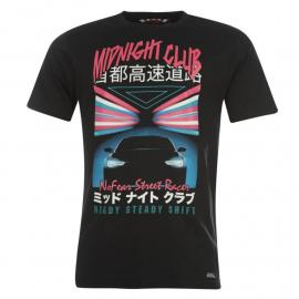 Tričko No Fear Drifting T Shirt Mens Black Headlight