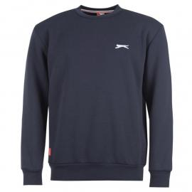 Mikina Slazenger SL Fleece Crew Sweater Mens Navy