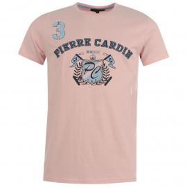 Tričko Pierre Cardin Cardin Applique T Shirt Mens Pink