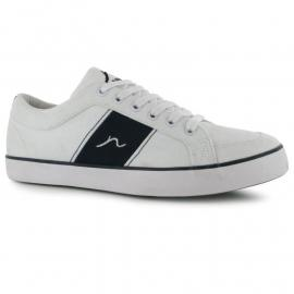Boty Kangol Rally Mens Canvas Shoes White/Navy
