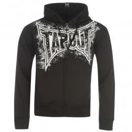 Mikina Tapout Logo Full Zip Hoody Mens Black