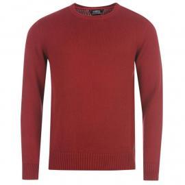 Kangol Class Crew Knitted Jumper Mens Red