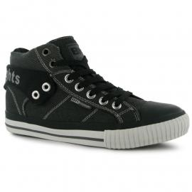 Boty British Knights Roco Fold Canvas Mens Trainers Dk Grey/Black