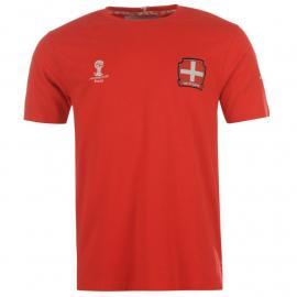 Tričko FIFA Switzerland Core T Shirt Juniors Tomato Red