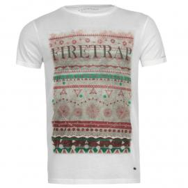 Tričko Firetrap Heath T Shirt White