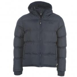 Bunda Lee Cooper 2 Zip Bubble Jacket Mens Navy