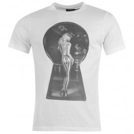 Tričko NUFC Keyhole T Shirt Mens White