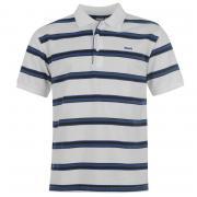 Lonsdale Striped Polo Shirt Mens White/Navy/Blu
