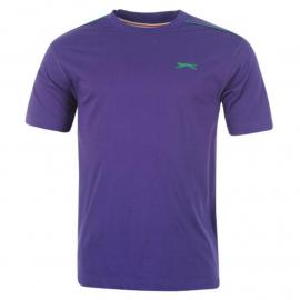 Tričko Slazenger Plain T Shirt Mens Purple