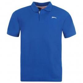 Slazenger Plain Polo Shirt Mens Royal Blue