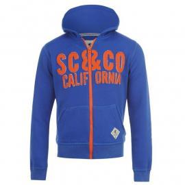Mikina SoulCal Cal Logo Zipped Hooded Jacket Junior Royal