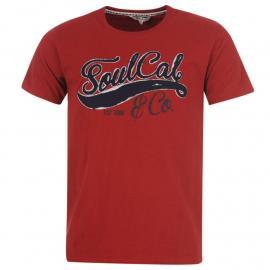 Tričko SoulCal Logo T Shirt Mens Red Mahogany