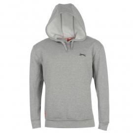 Mikina Slazenger Small Logo Fleece Hoody Mens Grey Marl