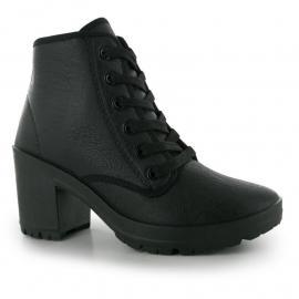 Boty Fabric Bey Ladies Boots Black