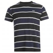 Tričko Lee Cooper YD Stripe Tee Mens Charcoal M/Navy