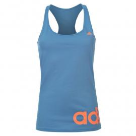 Adidas Linear QT Tank Top Ladies Lucky Blue