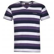 Tričko Pierre Cardin V Neck Stripe T Shirt Mens Navy