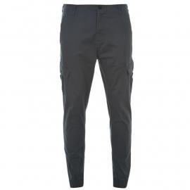 Kalhoty Fabric Cuffed Cargo Trousers Mens Steel Blue