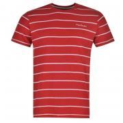 Tričko Pierre Cardin Striped T Shirt Mens Red